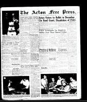 Acton Free Press (Acton, ON)23 Oct 1958