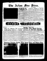 Acton Free Press (Acton, ON)22 Dec 1960