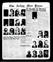 Acton Free Press (Acton, ON)30 Nov 1961