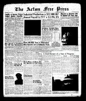 Acton Free Press (Acton, ON), January 3, 1963