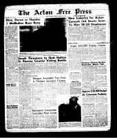Acton Free Press (Acton, ON), February 21, 1963
