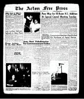 Acton Free Press (Acton, ON), October 31, 1963