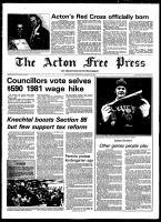 Acton Free Press (Acton, ON), January 28, 1981