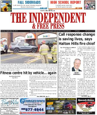 Independent & Free Press (Georgetown, ON), 25 Sep 2012
