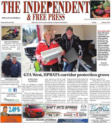 Independent & Free Press (Georgetown, ON), 24 Mar 2013