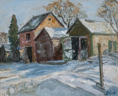 Untitled (Backyards in Winter)