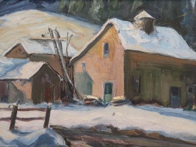 Untitled (Farm Scene in Winter)
