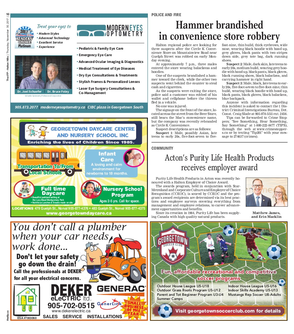 Independent & Free Press (Georgetown, ON), 30 Nov 2017