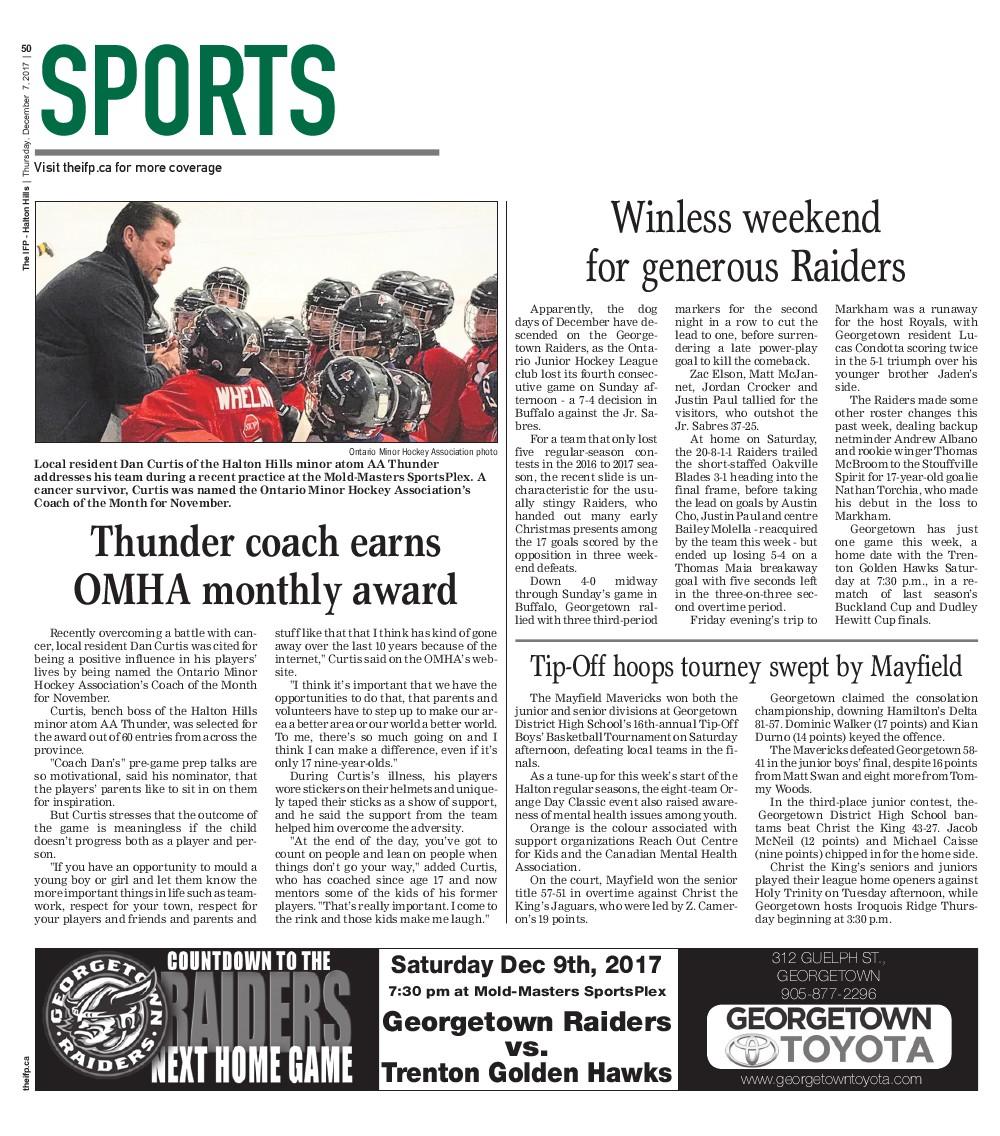 Independent & Free Press (Georgetown, ON), 7 Dec 2017