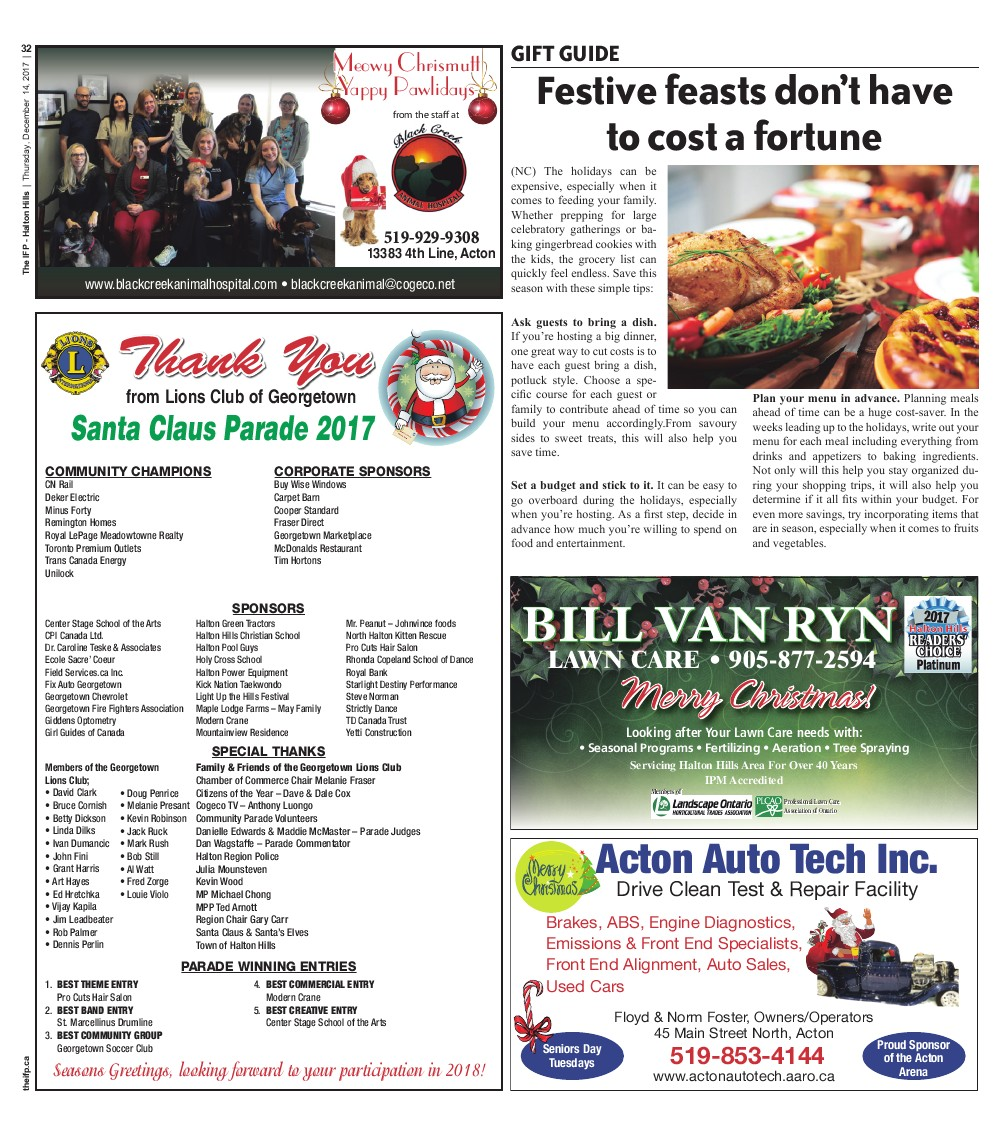 Independent & Free Press (Georgetown, ON), 14 Dec 2017