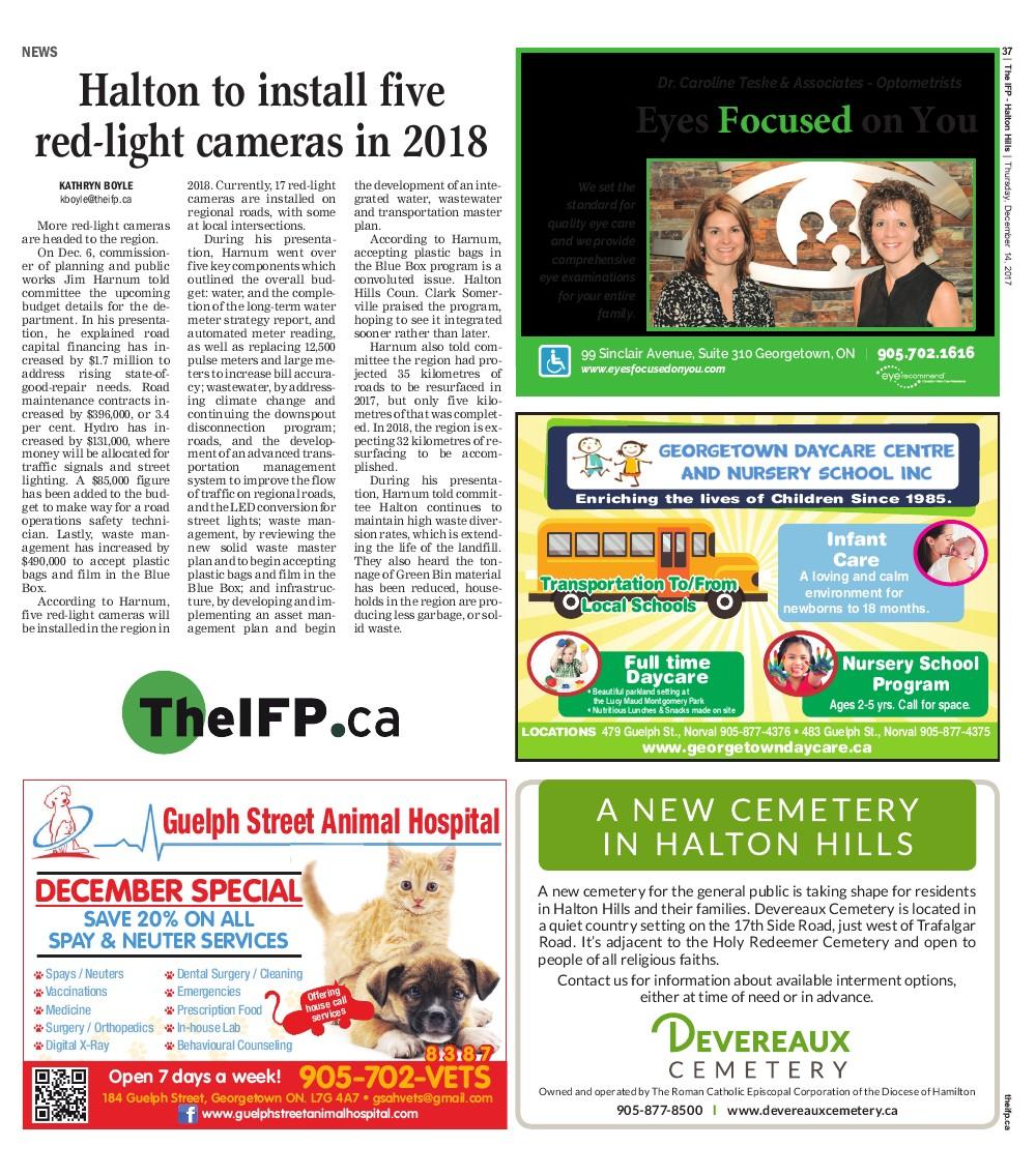 Independent & Free Press (Georgetown, ON), 14 Dec 2017