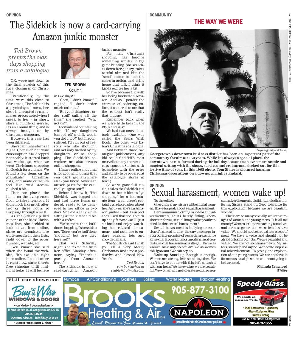 Independent & Free Press (Georgetown, ON), 21 Dec 2017