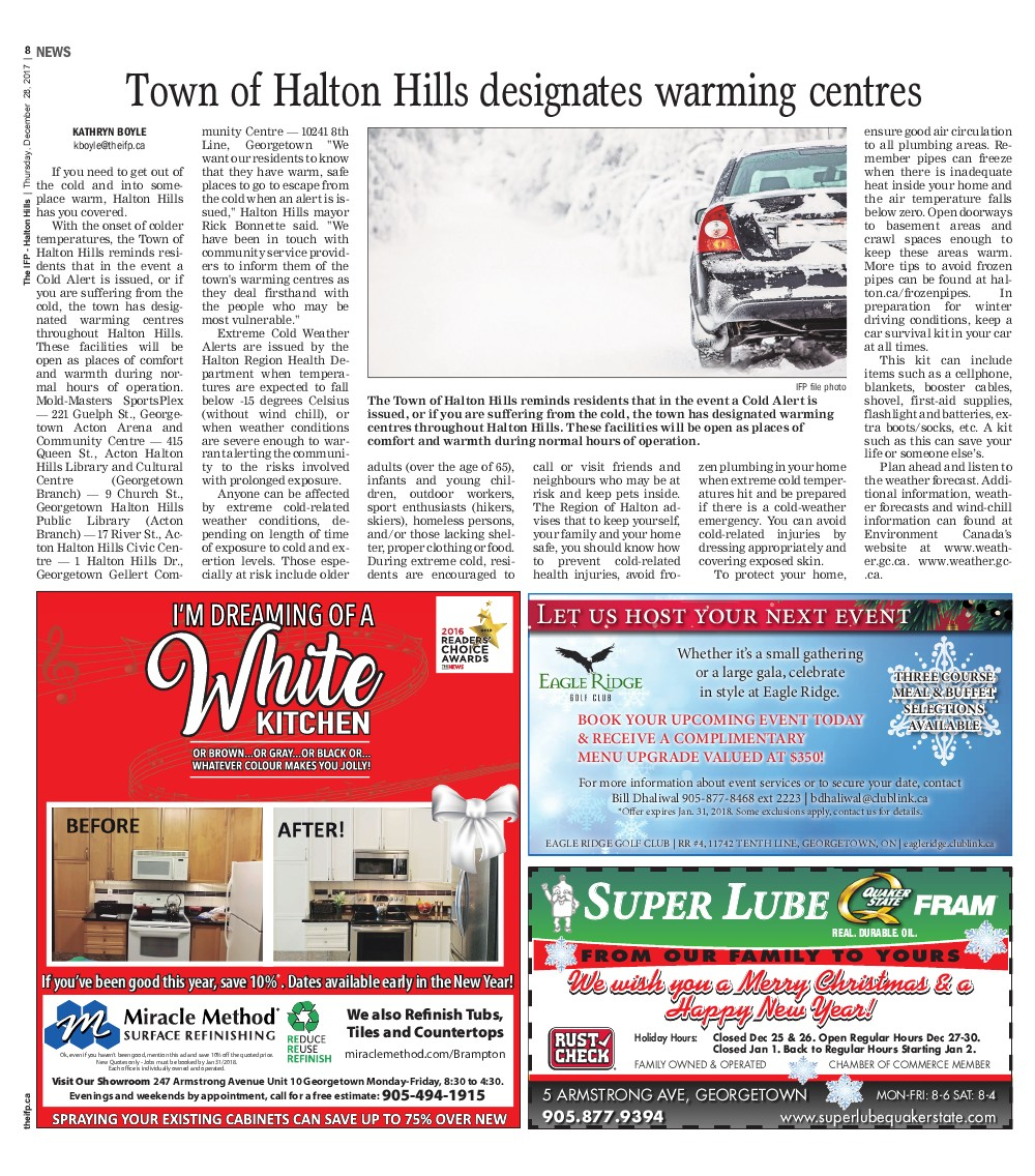 Independent & Free Press (Georgetown, ON), 28 Dec 2017