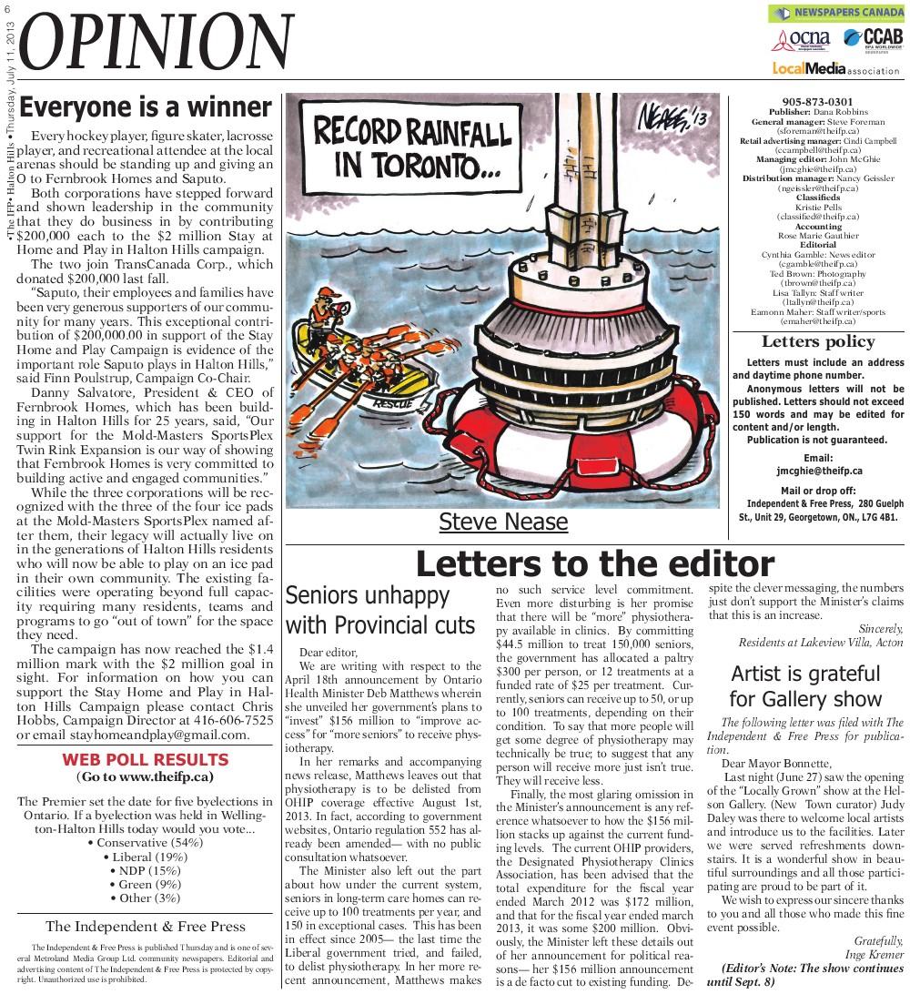 Independent & Free Press (Georgetown, ON), 11 Jul 2013