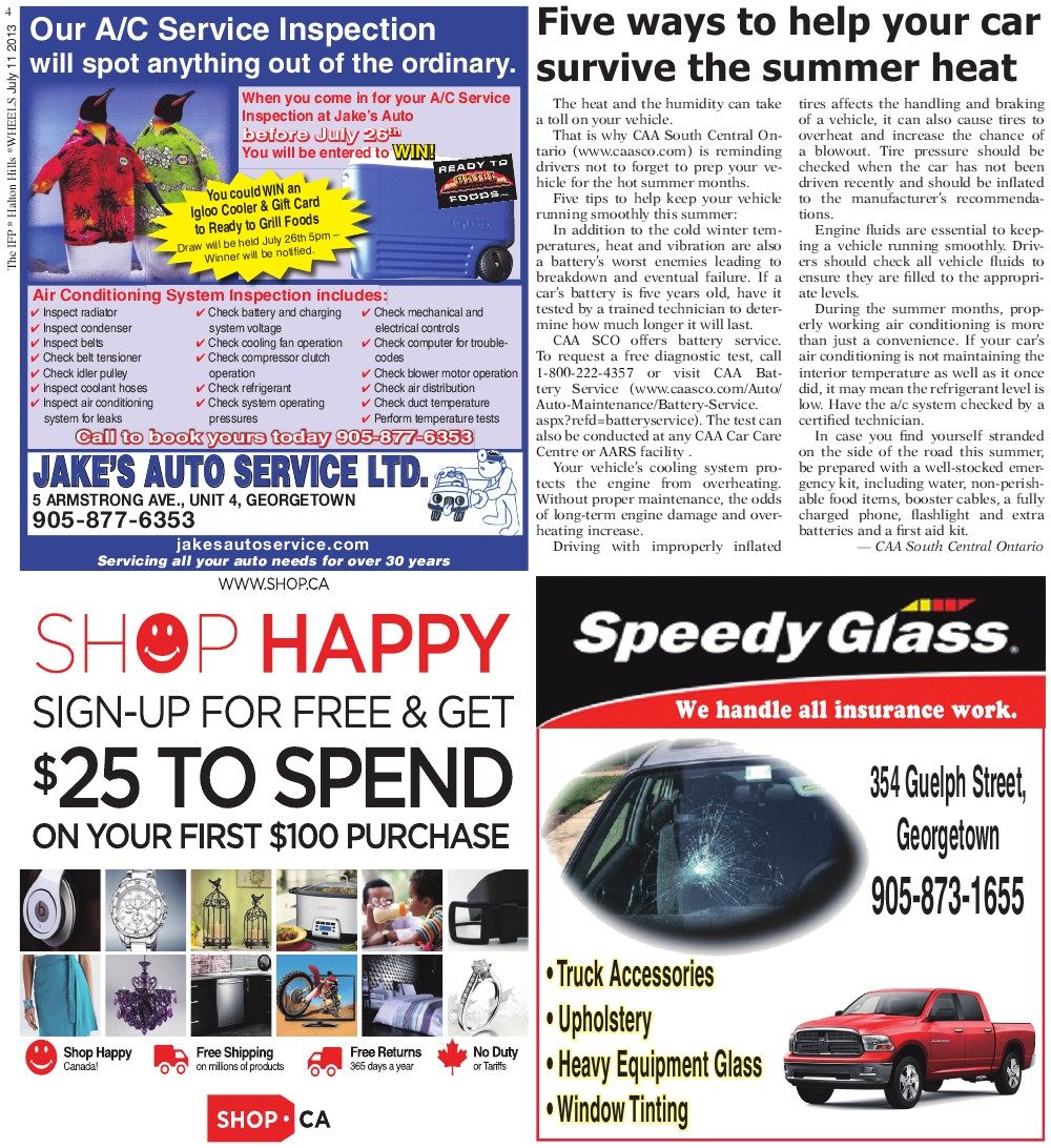 Independent & Free Press (Georgetown, ON), 11 Jul 2013