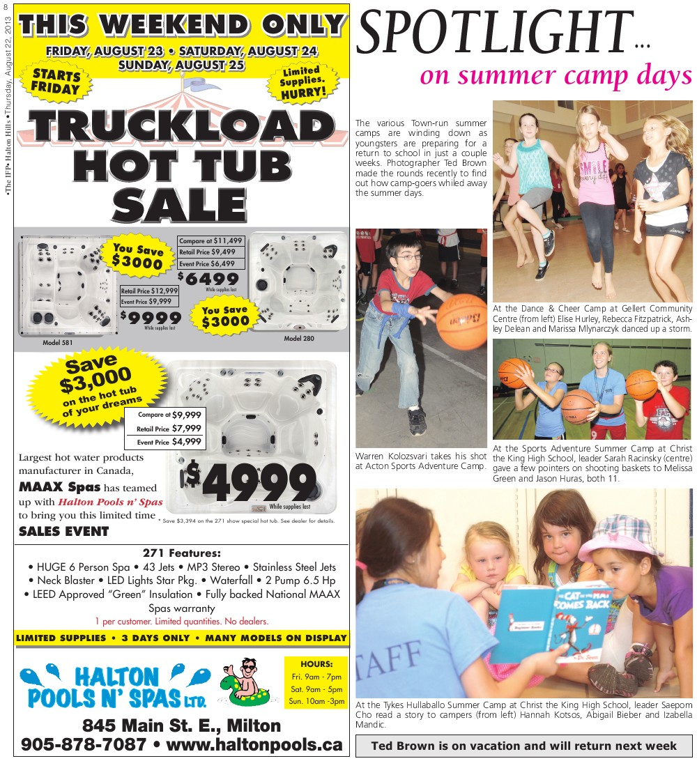 Independent & Free Press (Georgetown, ON), 22 Aug 2013
