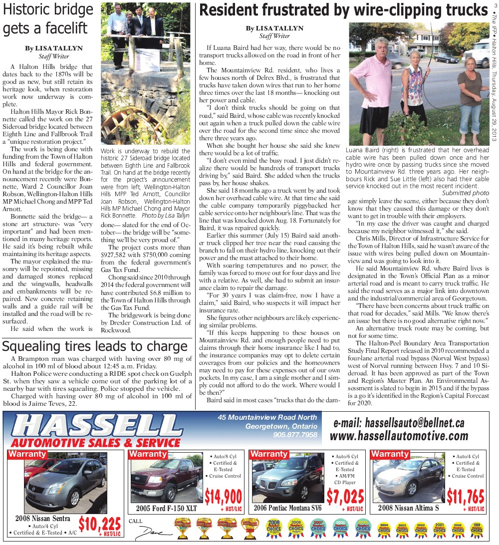 Independent & Free Press (Georgetown, ON), 29 Aug 2013