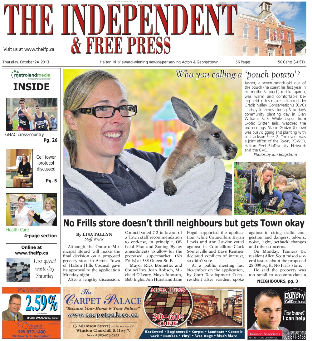 Independent & Free Press (Georgetown, ON), 24 Oct 2013