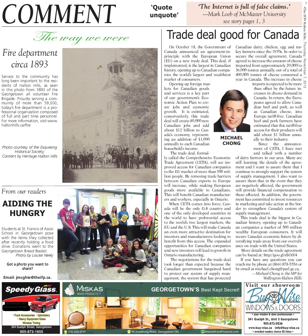 Independent & Free Press (Georgetown, ON), 7 Nov 2013