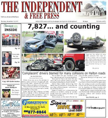 Independent & Free Press (Georgetown, ON), 14 Nov 2013