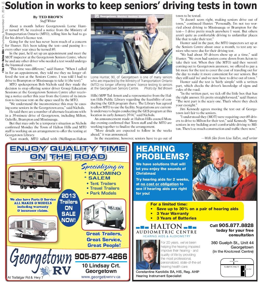 Independent & Free Press (Georgetown, ON), 21 Nov 2013