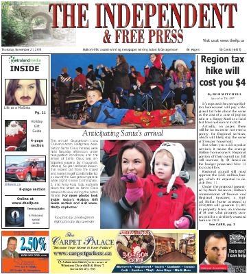 Independent & Free Press (Georgetown, ON), 21 Nov 2013