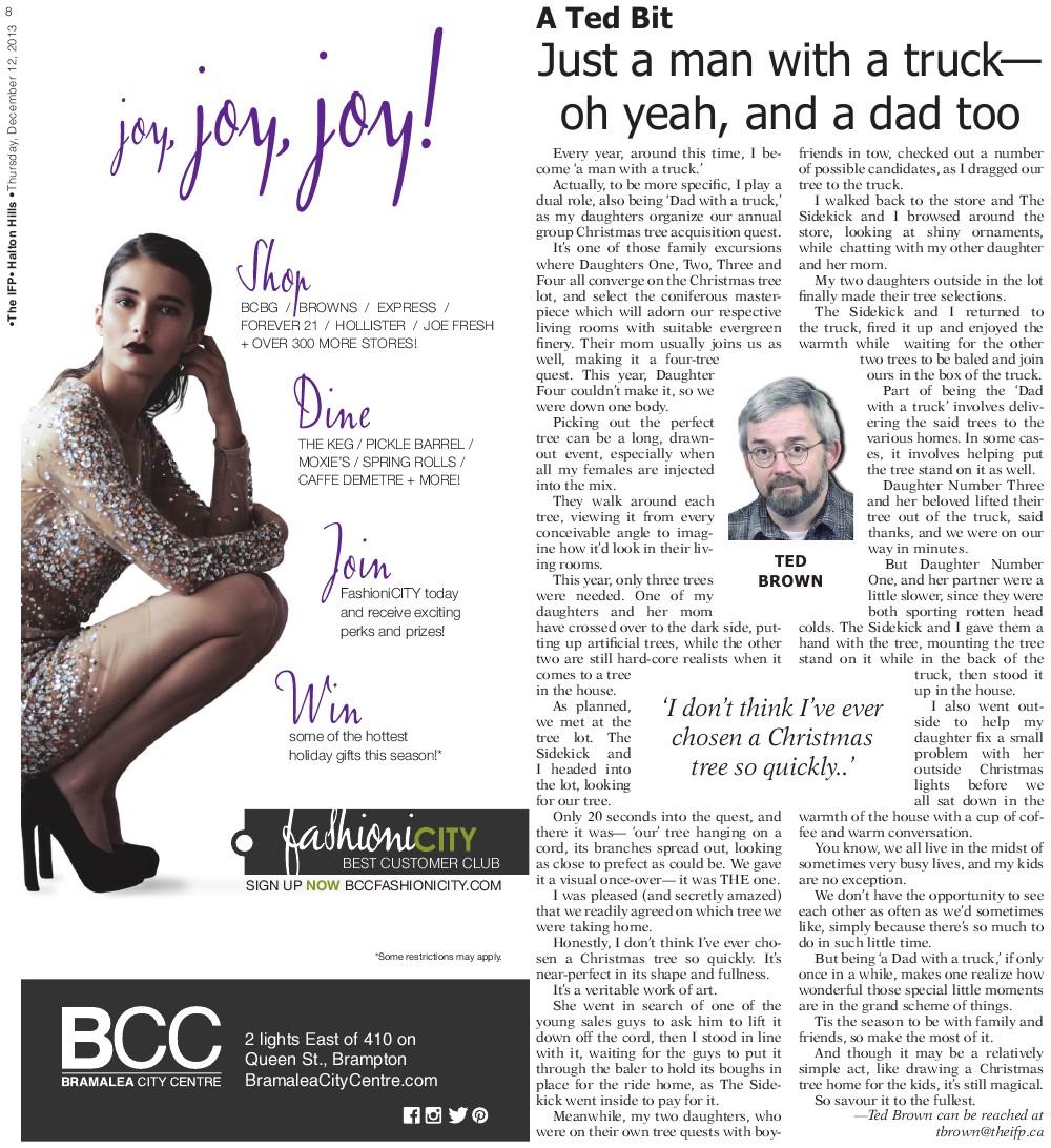 Independent & Free Press (Georgetown, ON), 12 Dec 2013