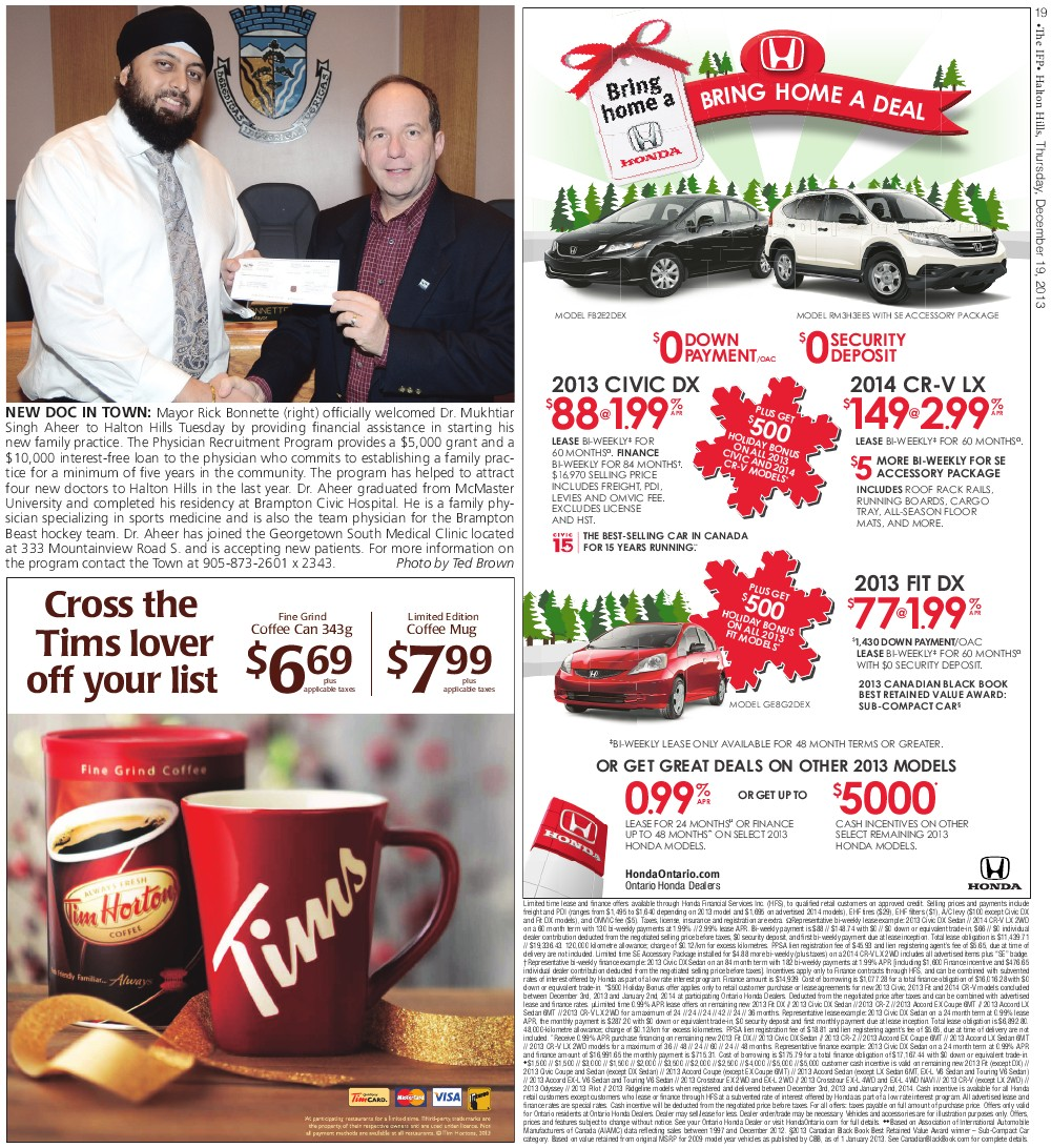 Independent & Free Press (Georgetown, ON), 19 Dec 2013