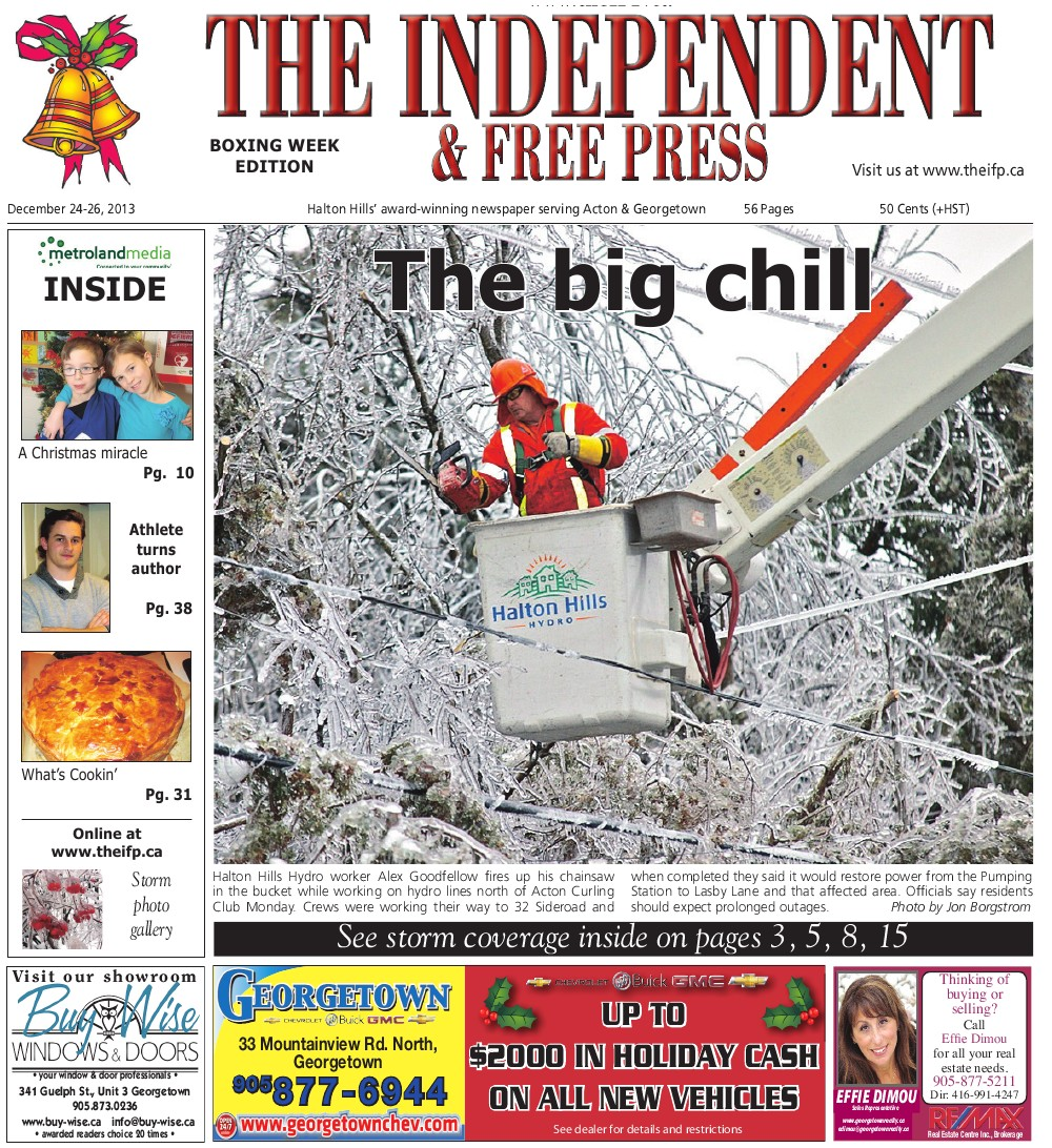 Independent & Free Press (Georgetown, ON), 26 Dec 2013