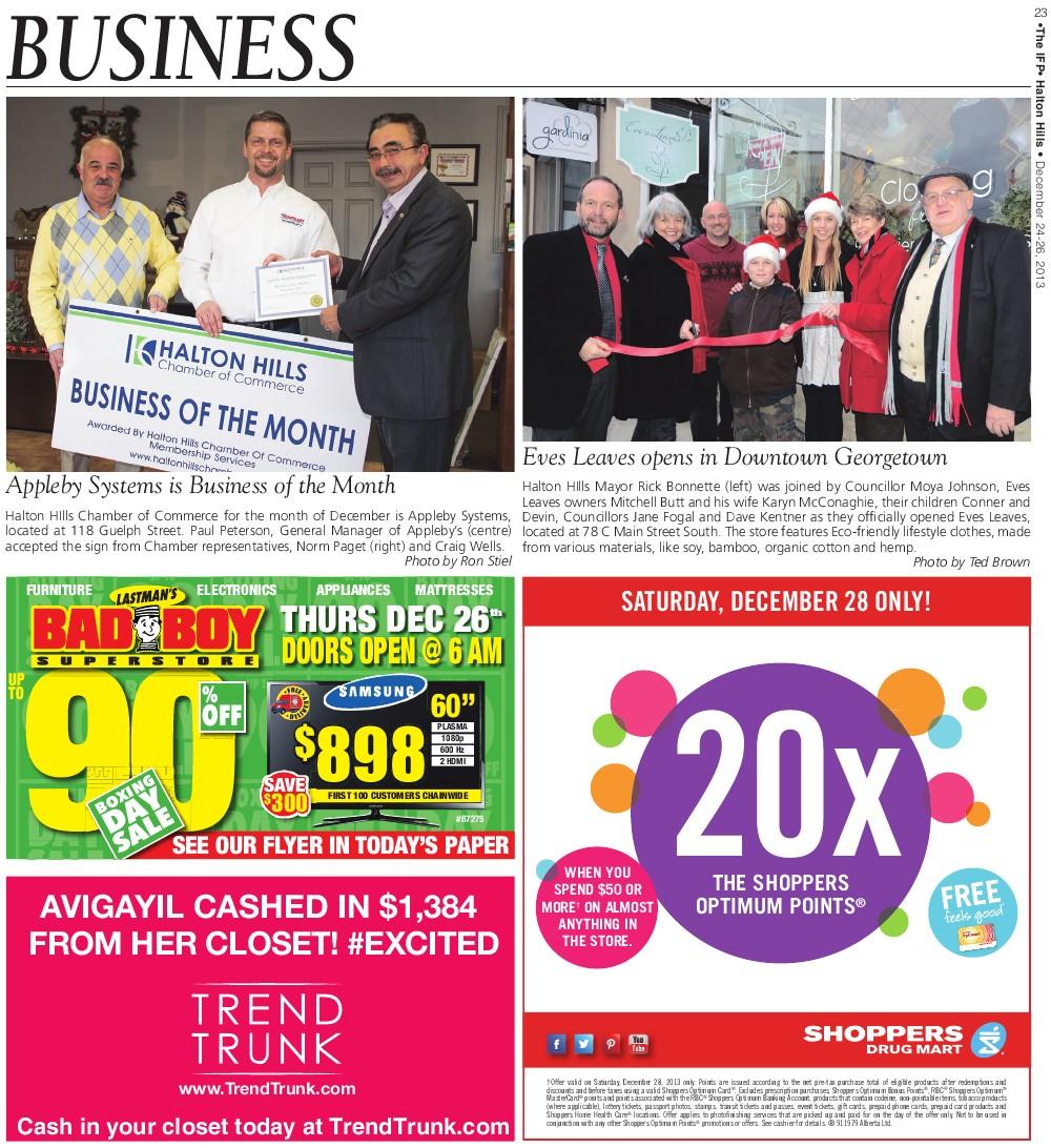 Independent & Free Press (Georgetown, ON), 26 Dec 2013