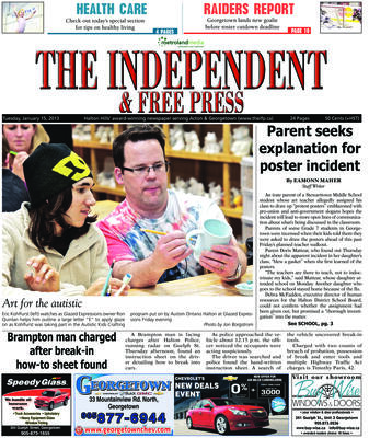 Independent & Free Press (Georgetown, ON), 15 Jan 2013