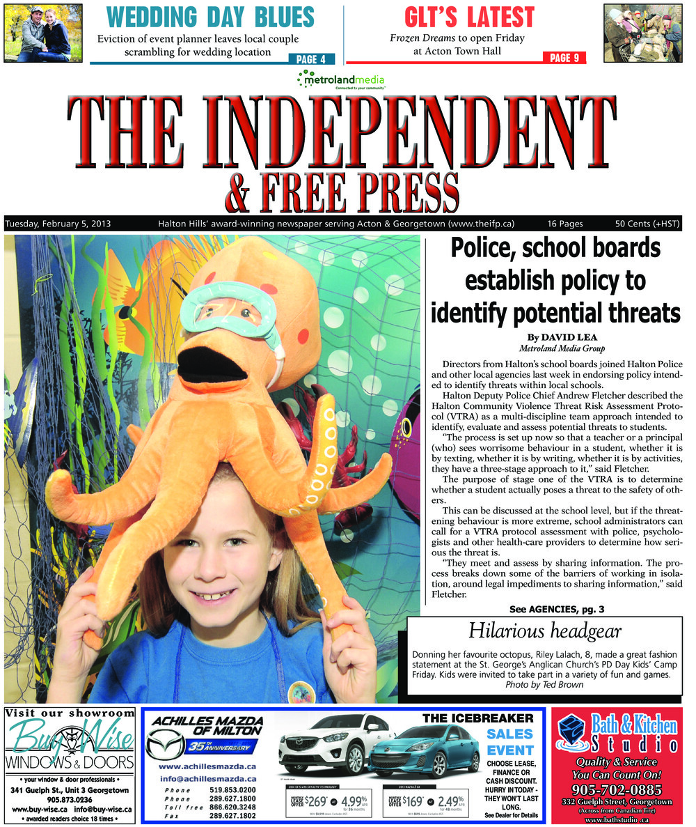 Independent & Free Press (Georgetown, ON), 5 Feb 2013