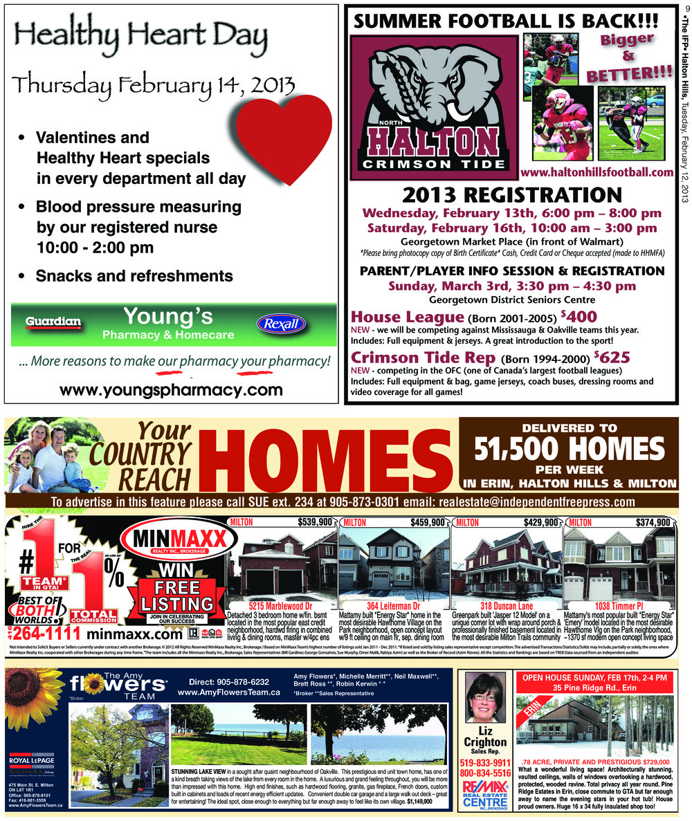 Independent & Free Press (Georgetown, ON), 12 Feb 2013
