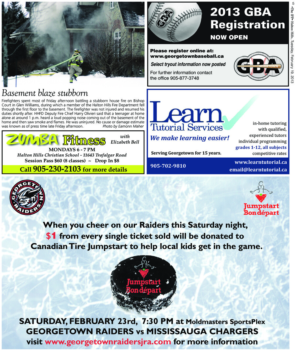 Independent & Free Press (Georgetown, ON), 19 Feb 2013