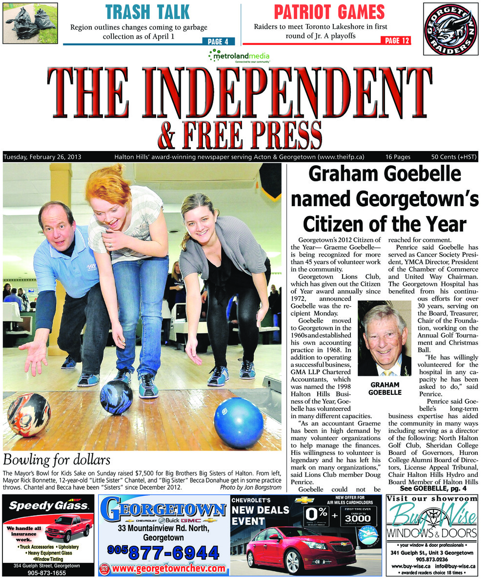 Independent & Free Press (Georgetown, ON), 26 Feb 2013