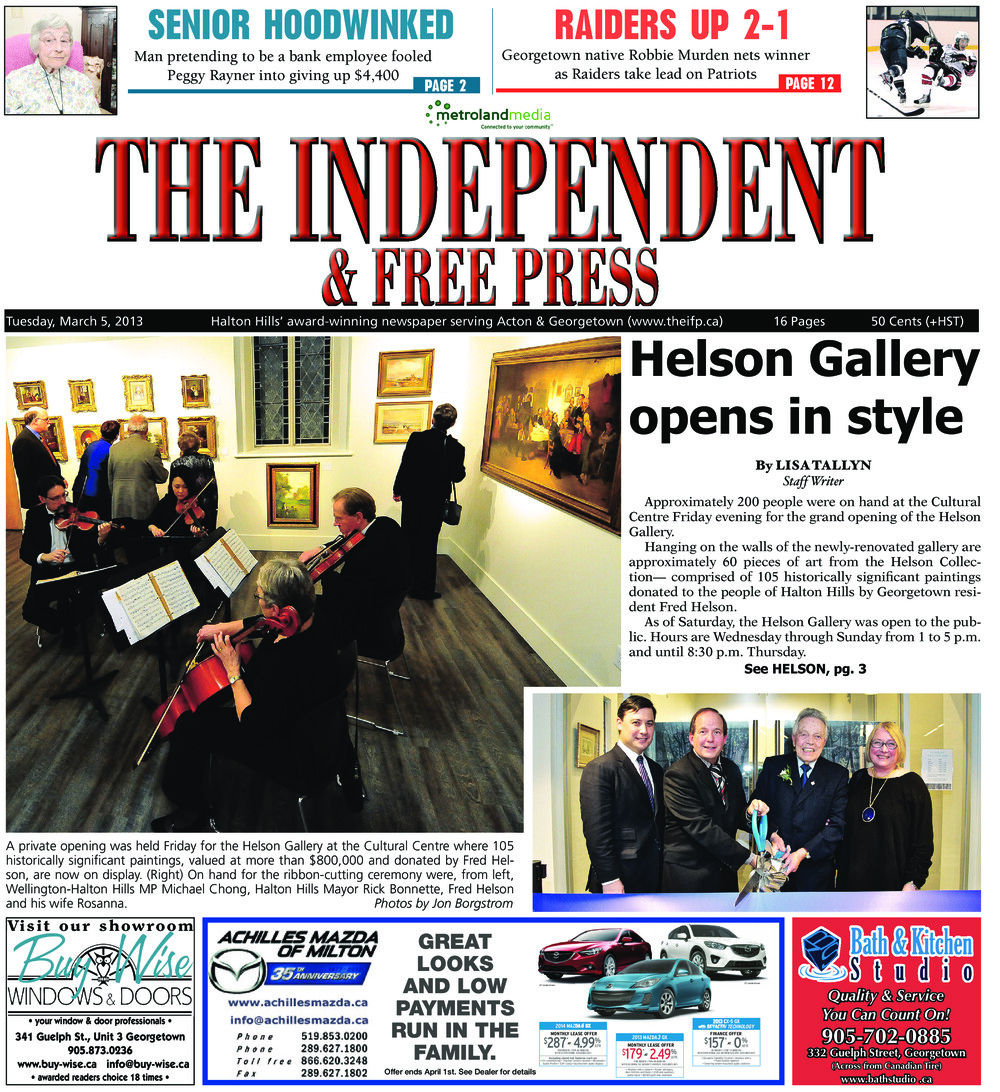Independent & Free Press (Georgetown, ON), 5 Mar 2013