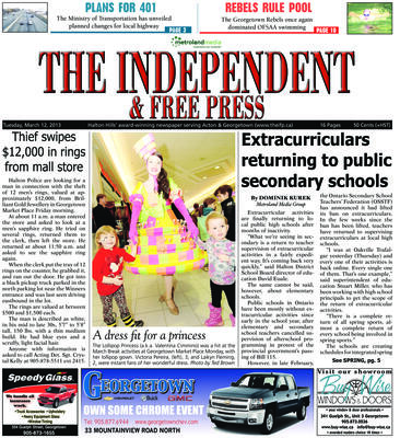 Independent & Free Press (Georgetown, ON), 12 Mar 2013