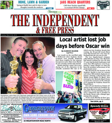 Independent & Free Press (Georgetown, ON), 26 Mar 2013