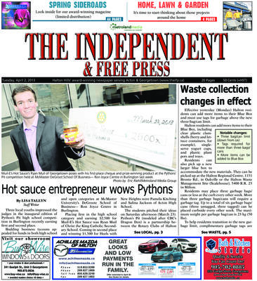 Independent & Free Press (Georgetown, ON), 2 Apr 2013