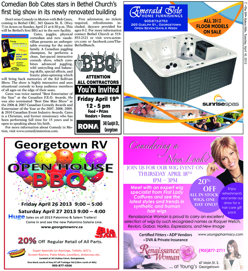 Independent & Free Press (Georgetown, ON), 16 Apr 2013