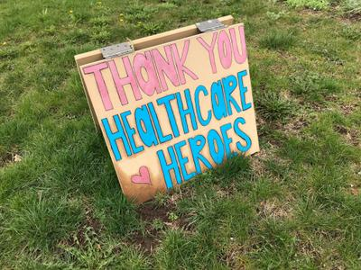 Thank you sign on Princess Anne Drive