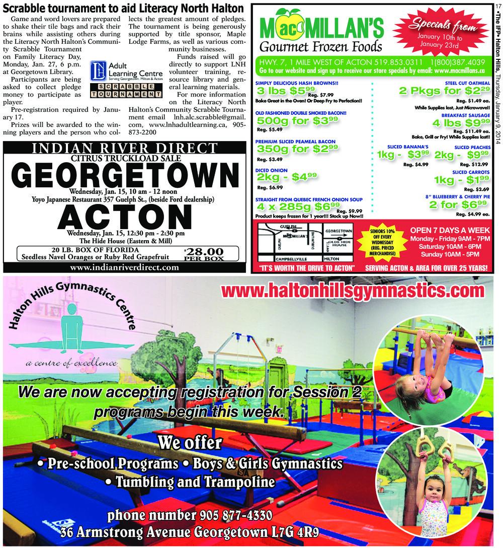 Independent & Free Press (Georgetown, ON), 9 Jan 2014