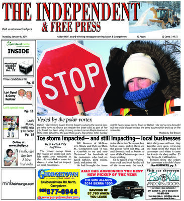 Independent & Free Press (Georgetown, ON), 9 Jan 2014