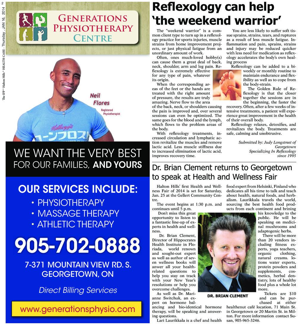Independent & Free Press (Georgetown, ON), 16 Jan 2014