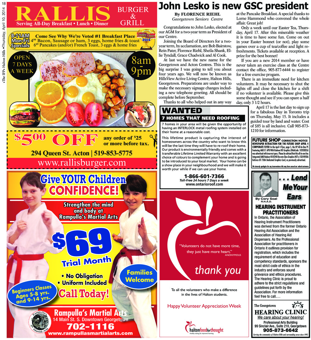 Independent & Free Press (Georgetown, ON), 10 Apr 2014