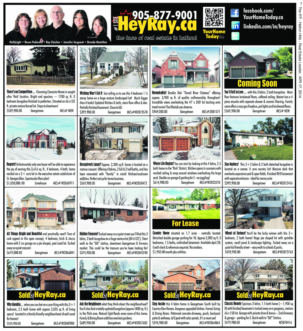 Independent & Free Press (Georgetown, ON), 17 Apr 2014