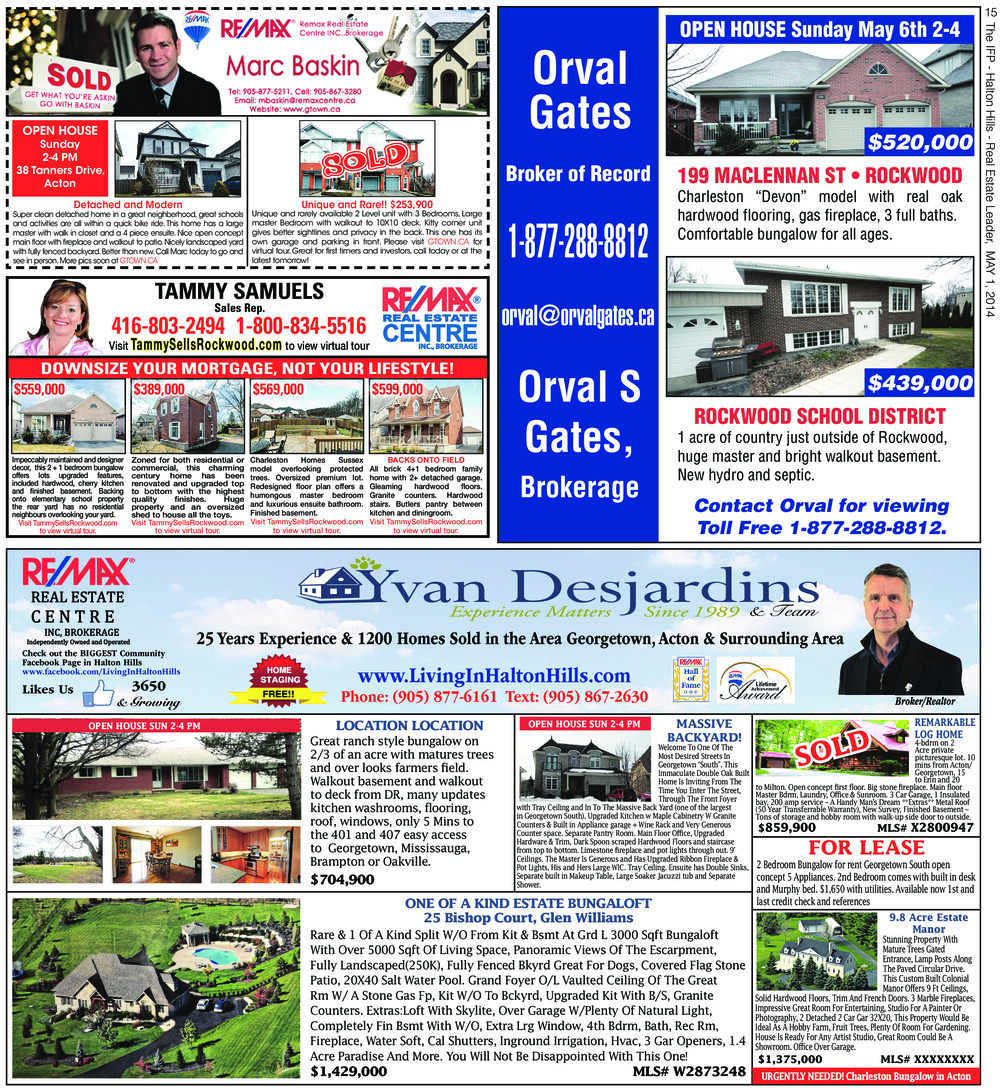 Independent & Free Press (Georgetown, ON), 1 May 2014
