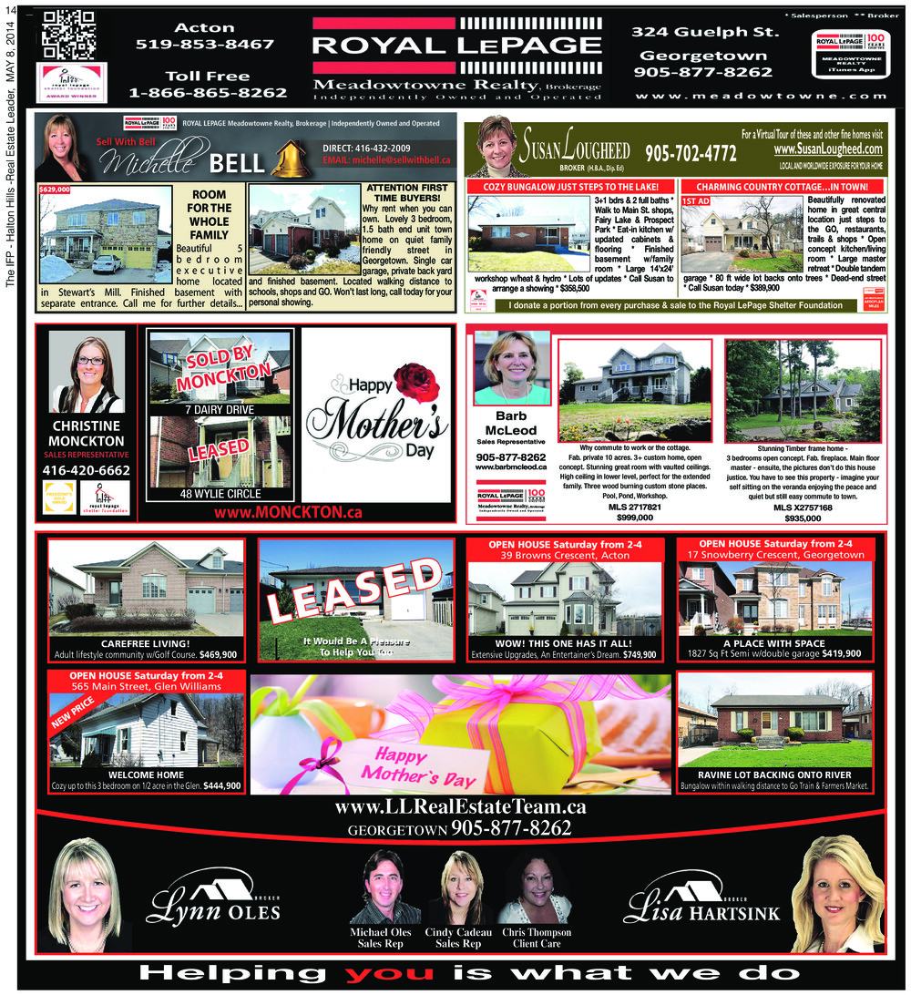 Independent & Free Press (Georgetown, ON), 8 May 2014