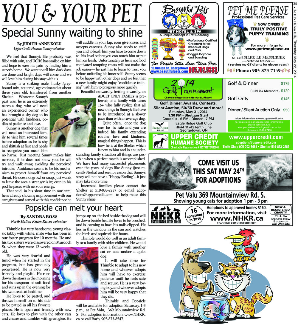 Independent & Free Press (Georgetown, ON), 22 May 2014