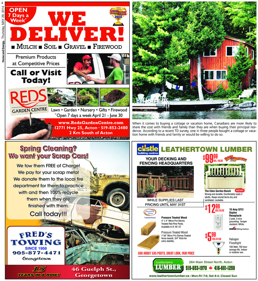 Independent & Free Press (Georgetown, ON), 29 May 2014